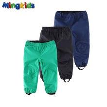 Mingkids Водонепроницаемый Ветрозащитный штаны мальчик девочка