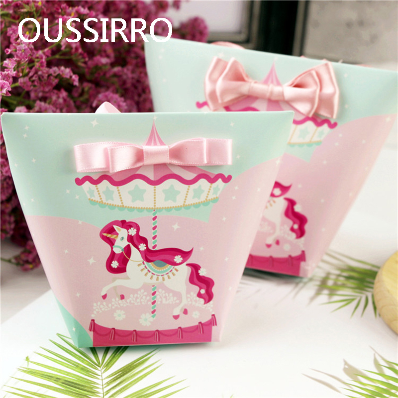 Aliexpress Com Buy 10pcs Kawaii Cartoon Unicorn Flamingo Candy Box Wedding Gift Bag Paper Gift Box Women S Cake Package Birthday Party Cookies Bags