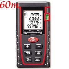 Telémetro 40 m/60 m/80/100 metros telémetro infrarrojo Electrónico interior gobernante Distancia/área/volumen/herramientas probador de Pitágoras medidor laser