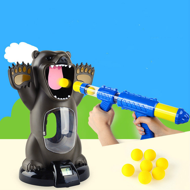 Hungry Bear Electronic Shooting Game  Indoor security creative shooting game