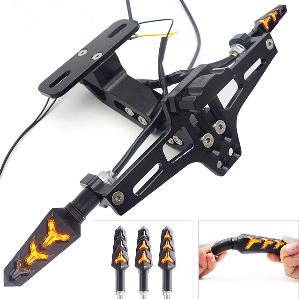 Support universel de plaque d'immatriculation arrière de moto et clignotant pour accessoires yamaha fz16 accessoires honda pcx
