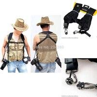 Digital SLR Camera Quick Rapid Double Dual Shoulder Sling Belt Carry Speed Strap for Nikon D7000/D5000/D3100 for Canon 60D 350D