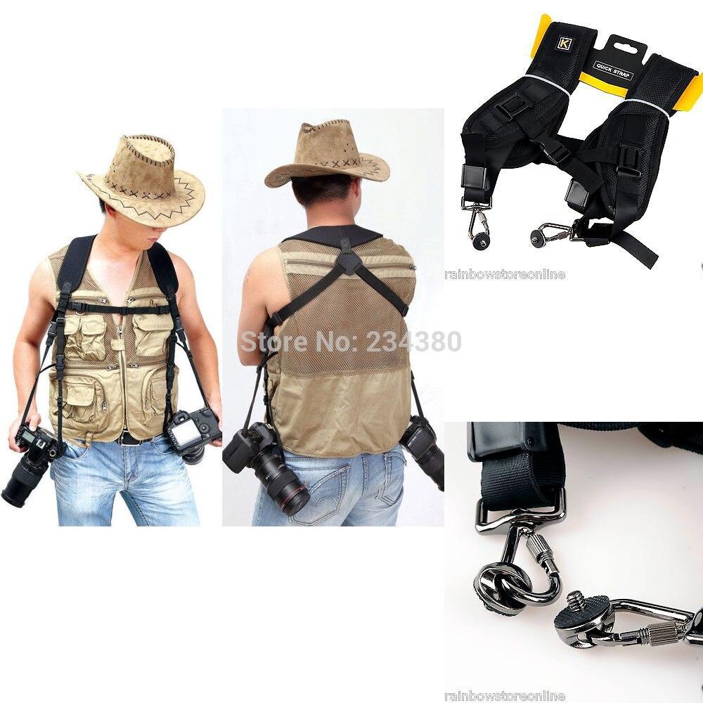 Numérique reflex caméra rapide rapide double double épaule sling ceinture carry speed strap pour nikon d7000/d5000/d3100 pour canon 60d 350d