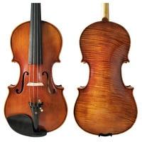 Free Shipping Copy Stradivarius 1716 100% Handmade Oil Varnish Violin + Carbon Fiber Bow Foam Case FPVN04