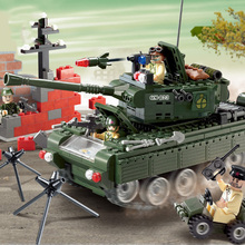 SLPF Tank Car Model Toys Doll Children Puzzle DIY Creative Military Plastic Small Particles Assembled Building Blocks Boy ToyC21 ban bao small particles educational building blocks toys assembled licensed car i3 is x 5 series gt models back to the car