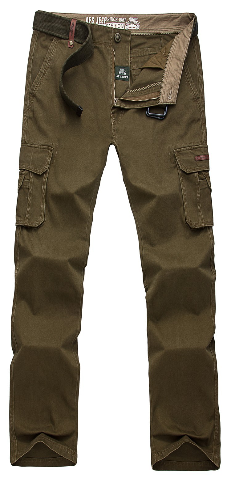 2015 Brand AFS JEEP Men New Pants Autumn Winter Cotton Cargo Casual Pants Pockets Fashion High Quality Mens Slim Pant Size 30~44 (15)