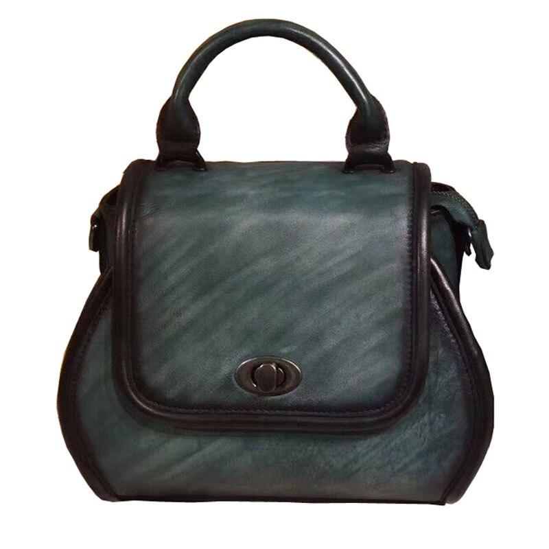 Brand New Original Designer Handmade Cow Leather Women's Handbags Cover Solid Small Vintage Totes Crossbody shoulder bags brand new original authentic brs15b