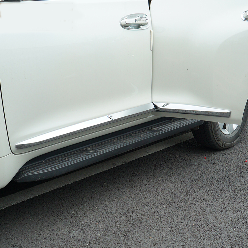 KOUVI ABS Chrome garniture de moulage de corps de porte latérale pour Toyota FJ150 PRADO 2018 accessoires 4 pièces/ensemble