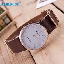 2017 Newly Designed Relogio Feminino Clock New Ultra-thin Leather Belt Geneva Classic Simple Scale Men Watches Gift 321