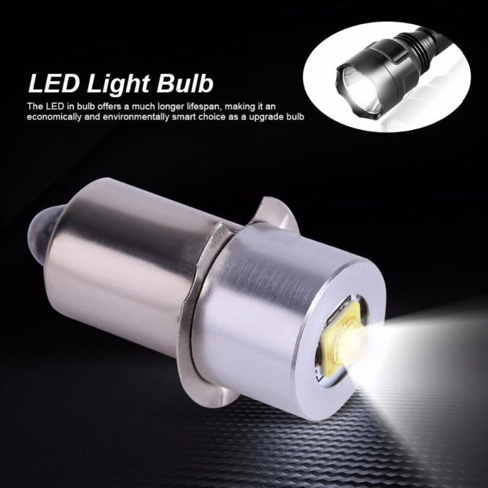 18V Led Flashlight Bulb LED Upgrade Bulb For Ryobi Milwaukee Craftsman Lamp Maglite Flashlight DC Replacement Bulbs 3V 4-12V