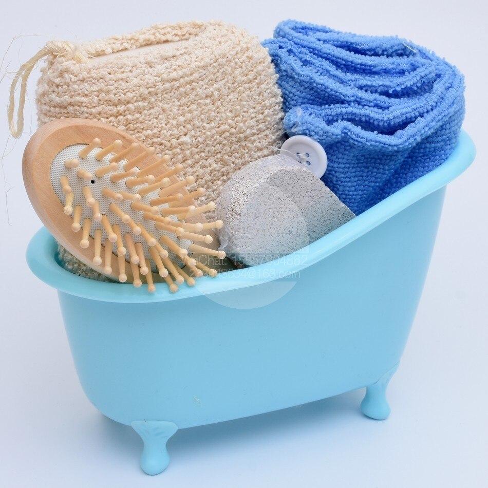 nuovo arrivo cappello di capelli asciutti bagno di spugna pettine pomice vasca da bagno set bagno