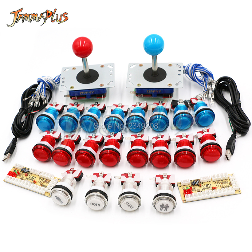 Zero Delay Arcade cabinet DIY kit for 5V led push button ZIPPY Joystick 1 2 player