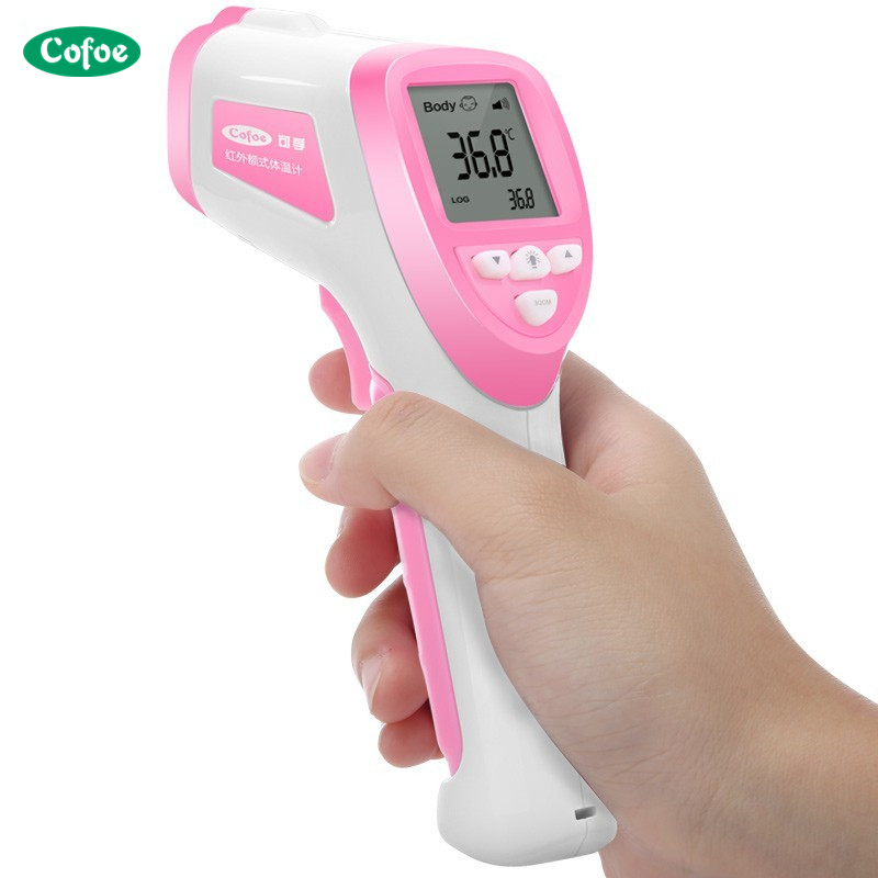 Cofoe Baby Fever Forehead IR Thermometer Temperature Measurement Tool Device Digital Non Contact LCD Infrared for Child Health cofoe forehead infrared thermometer body temperature fever digital measure meter ir non contact portable tool for baby adult