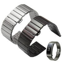 High Quality Stainless Steel Watchbands Bracelet 16mm 18mm 20mm 22mm Silver Black Metal Watch Band Strap