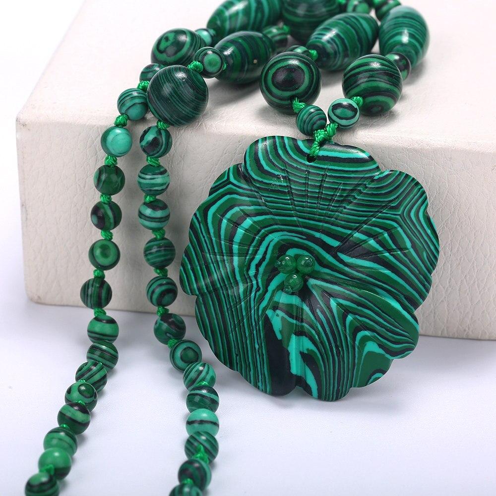5*5 cm di corallo del turchese Collana Di Cristallo Naturale Malachite collana Del Pendente Del Fiore lapis lazuli beads naturale Della Pietra Preziosa Del Cuore di Amore
