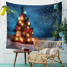 New Year Wall Tapestry Christmas Tree Snowflake Witchcraft Hippie Tapestry Wall Fabric Boho Decor Wall Hanging Tapiz Wandkleed