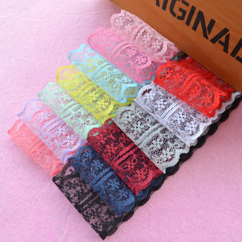 5 Meters Ruffle Unilateral Organza Lace Ribbon Trim 25mm Sewing Wedding