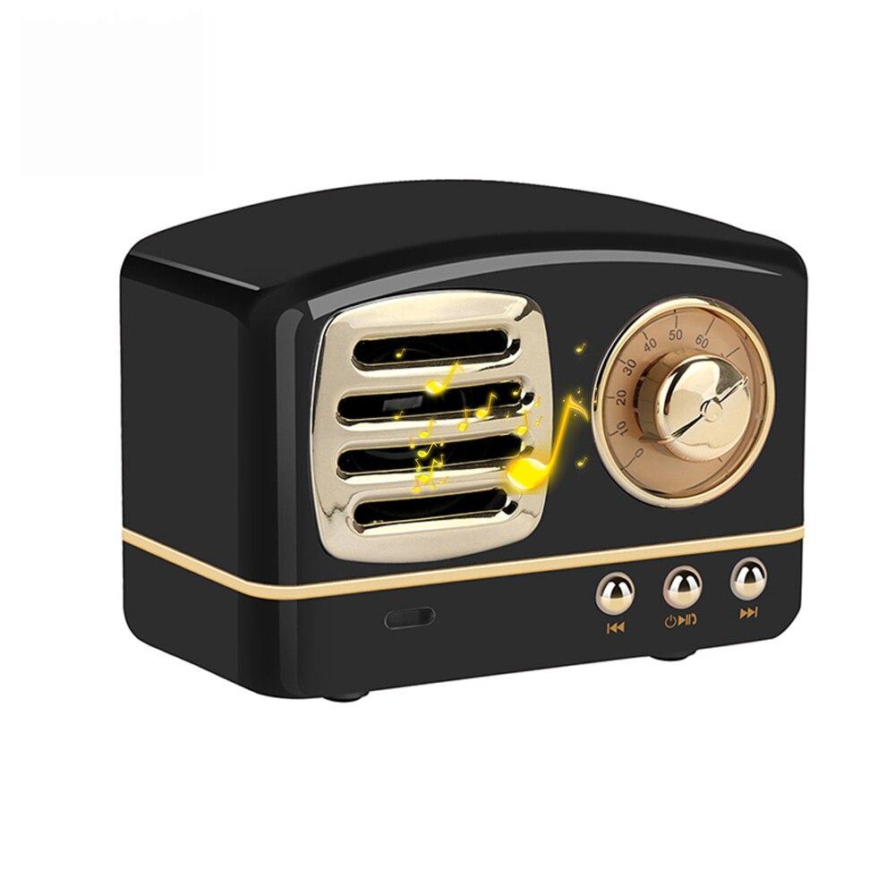 Retro Portable Mini Bluetooth Wireless Speakers Support TF Card FM Radio