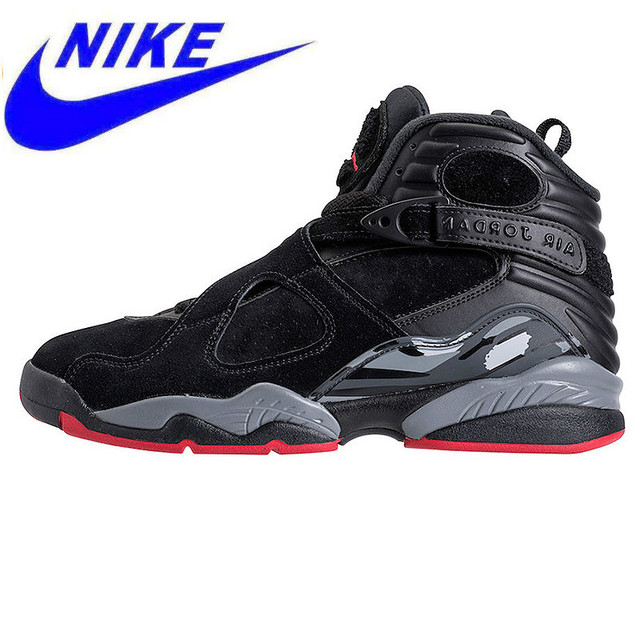 hot sale online 69b82 65790 US $137.19 49% OFF|Original NIKE Air Jordan 8 Cement Black Men's Basketball  Shoes Sneakers, Outdoor Sport Comfort Shoes 305381 022-in Basketball Shoes  ...
