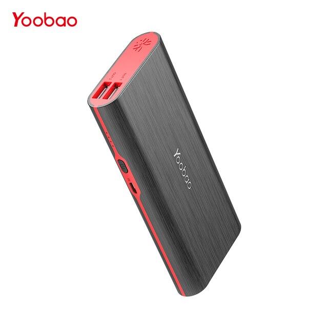 Yoobao 18650 Мощность Bank 10000 мАч Быстрая зарядка poverbnak 2 USB Портативный Зарядное устройство Внешний Батарея Мощность Bnak для Xiaomi Mi 6 5 телефон