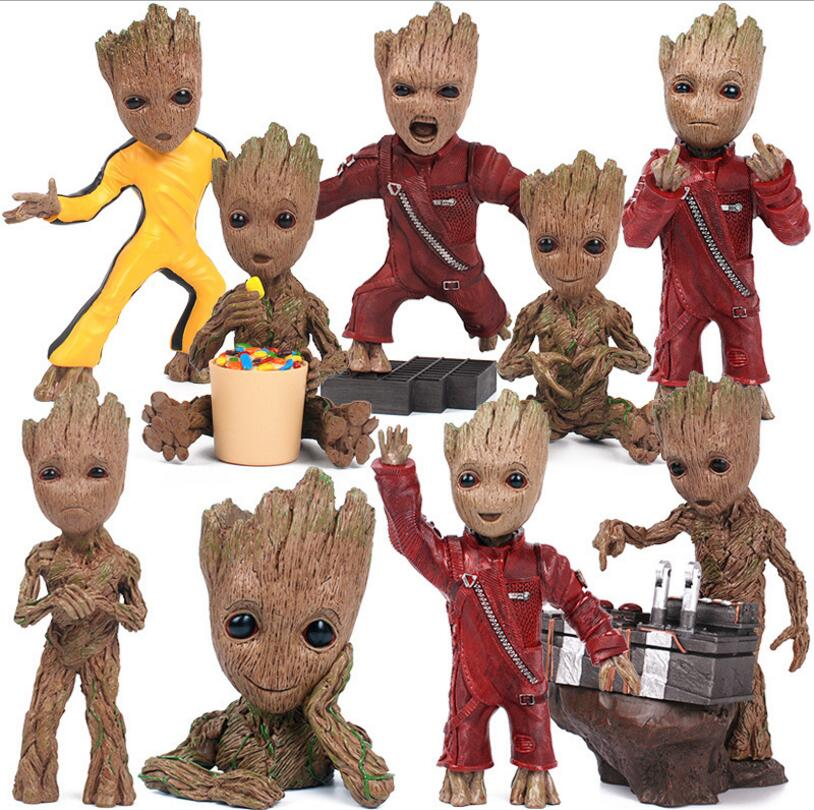 Guardians of the Galaxy 2 DJ Baby Dancing Tree Man Statue Resin Action Figure Collectible Model Decoration Toy Party Supplies 2016 new arrival the guardians galaxy mini dancing tree man action figure model toy doll