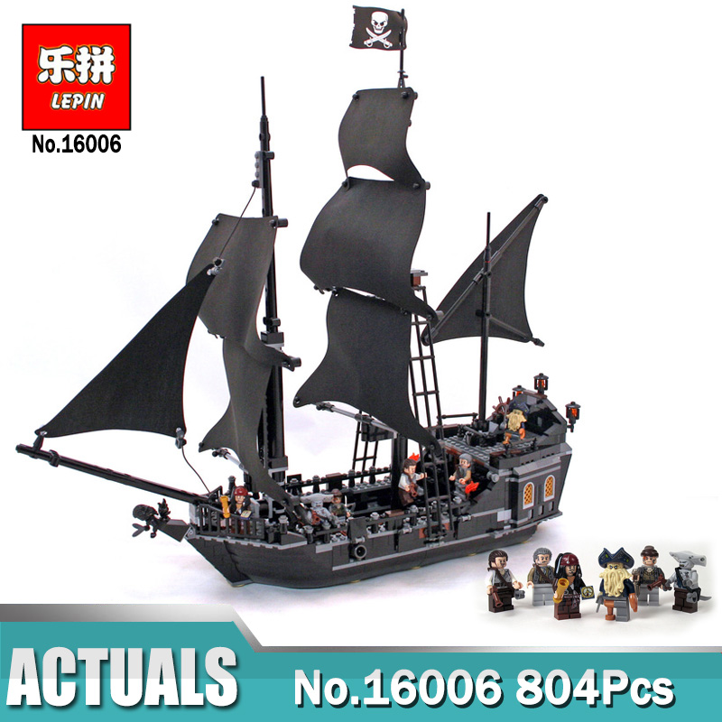 16006 Pirates of the Caribbean Black Pearl Dead Ship model toy bricks 804pcs NEU