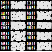 OPHIR Set11 Airbrushing 20x Template Sheet Stencil for Airbrush Kit Nail Art Paint#JHF11