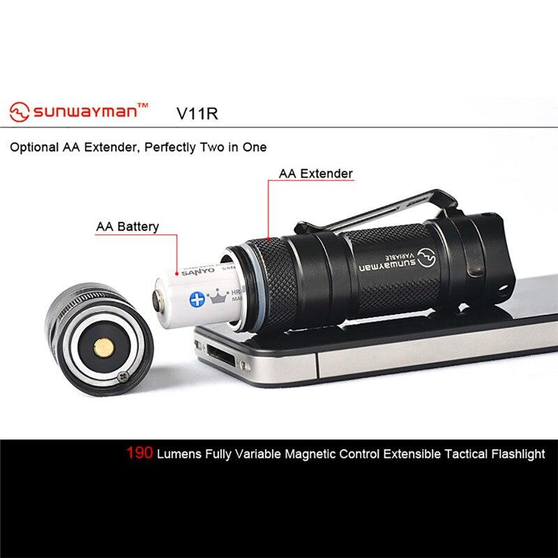 world-wind#3011 SUNWAYMAN V11R new XM-L U2 LED Torch 500 Lumens Highlight Mini Flashlight free shipping часы mini world mn1012a