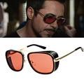 LongKeeper Brand Designer Steampunk Sunglasses Iron Men Style Sun Glasses Retro Goggles Vintage Oculos De Sol masculino gafas