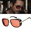 LongKeeper Grife Steampunk Homens De Ferro Estilo dos óculos de Sol Óculos de Sol Retro Óculos Vintage Oculos de sol masculino gafas