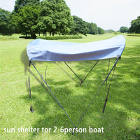 2 6person sun shelter for fish boat waterproof cloth sun shelter boat tent boat sunshade