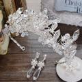 -Alto grau de jóias da coroa de cristal artesanal frisado noiva cocar acessórios do cabelo do casamento Europeu