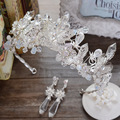 high-grade crystal crown jewelry handmade beaded wedding hair accessories European bride headdress