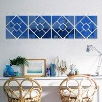 [Fundecor] 3D площадь зеркала настенные наклейки гостиная, спальня ванная комната украшения дома Art Наклейки DIY фрески самоклеющаяся пленка
