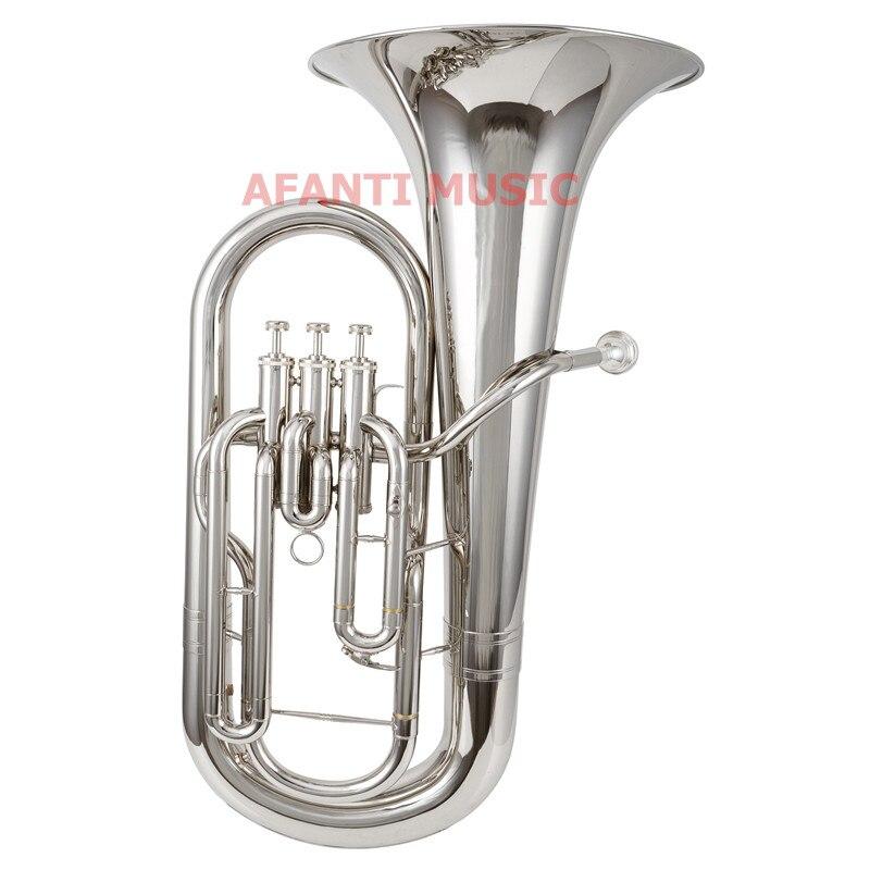 Afanti Music Bb tone / Yellow Brass / Silver Plated Baritone (BAR 103)