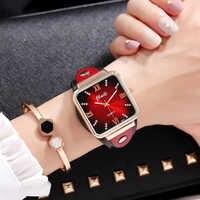Zegarek damski Jbaili women watches luxury dress dial leather band quartz wrist watch womens ladies clock relogio feminino