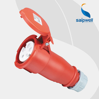 Wholesale Saipwell SP5 5 Pin 16A 400V electric extension connection IP44 dust proof sockets For machine Petroleum Chemical Uses