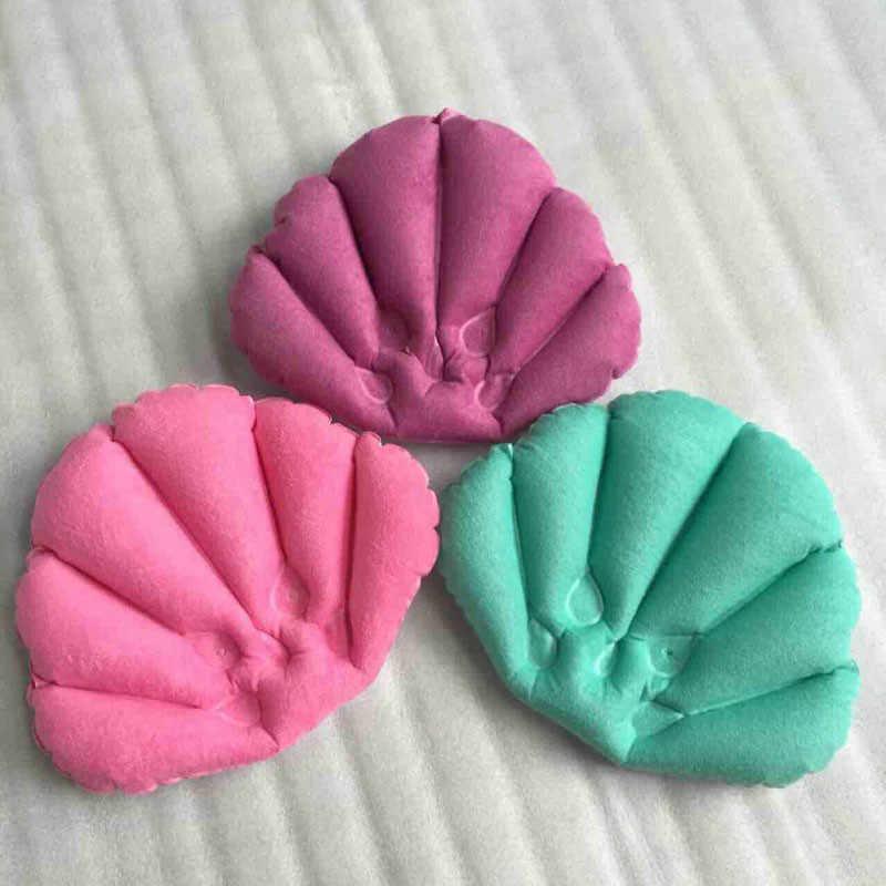 1 sztuk Mrosaa, wodoodporne poduszki do kąpieli wanna zagłówek PVC nadmuchiwane SPA poduszka przyssawki komfort poduszka losowe kolory