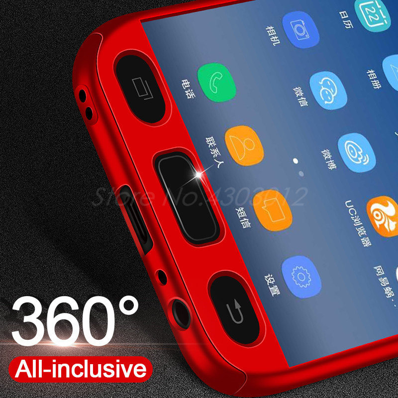 360 Full Protective Phone Case For Samsung Galaxy J3 J5 J7 2016 J4 J6 Plus J8 2018 Case For Samsung J5 3 J7 2017 With Glass Film in Fitted Cases from Cellphones Telecommunications