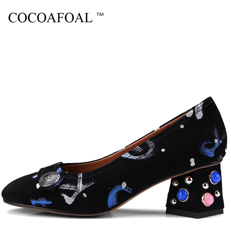 COCOAFOAL Woman Wedding Pumps Blue Red Pearl Sexy High Heels Shoes Plus Size 34 - 43 Party Snakeskin Natural leather Pump 2018 baoyafang white red tassels women wedding shoes bride 12cm 14cm high heels platform shoes woman high pumps female shoes