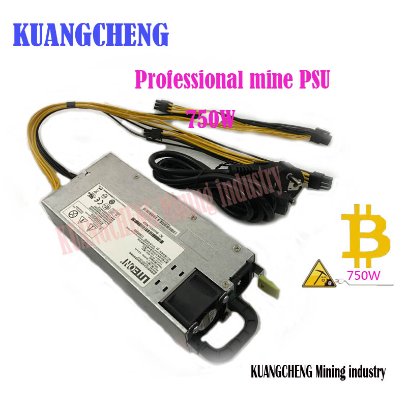 KUANGCHENG  Miners For Power Low Noise, 750W 12V 62A Output. Including 4PICE 6P Connector Available For L3 A4 X11 BAIKAL MINER