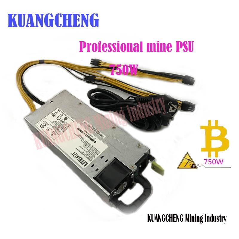 KUANGCHENG mineurs pour puissance à faible bruit, 750 W 12 V 62A sortie. y compris 4 PICE 6 P connecteur Disponible pour L3 A4 X11 BAÏKAL MINEUR