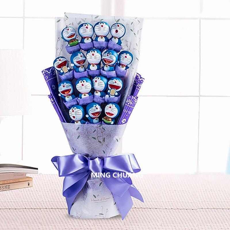 Doraemon Jingle Chat Robot Nobita Nobi Minamoto Shizuka Grand G Bouquet de Vacances Cadeau Valentines Cadeau Action Figure Jouet BIX D736