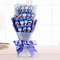 Doraemon Jingle Robot Cat Nobita Nobi Minamoto Shizuka Big G Bouquet Holiday Gift Valentines Gift Action Figure Toy BIX D736