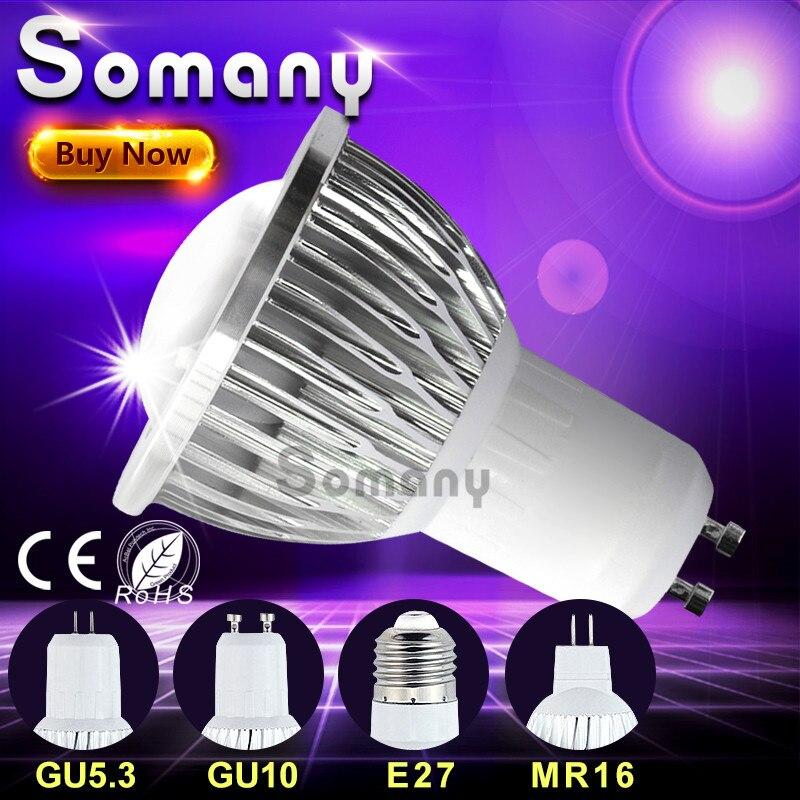Dimmable lampara gu10 gu5 3 e27 110v 220v led spotlight - Bombilla led gu10 ...