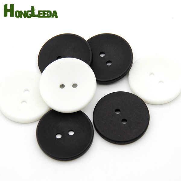 100 шт./лот 30 мм большие пластиковые полимерные Швейные Кнопки с 2 отверстиями