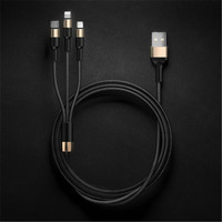 Three in one data line, Micro USB Cable, fast charging, Sync Data Mobile Phone, for Iphone for Android general purpose, durable.