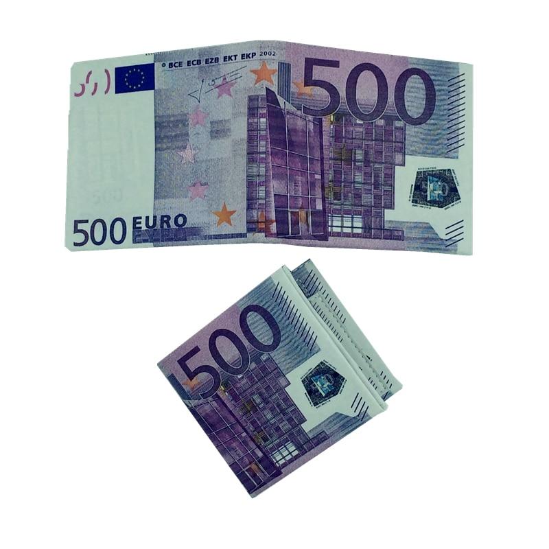 2018 New Novel MoneyClip Men Women Pu Leather Paper Dollar Euro Wallet Slim Thin Purse 2 Fold Student Cheap Gift Zipper Coin Bag