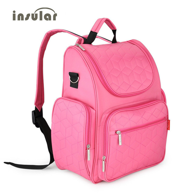 Baby Fashion Diaper Bag Backpack Mom and Baby Designer Changing Bag Washable Reusable Baby Stroller Bag Maternity Bag