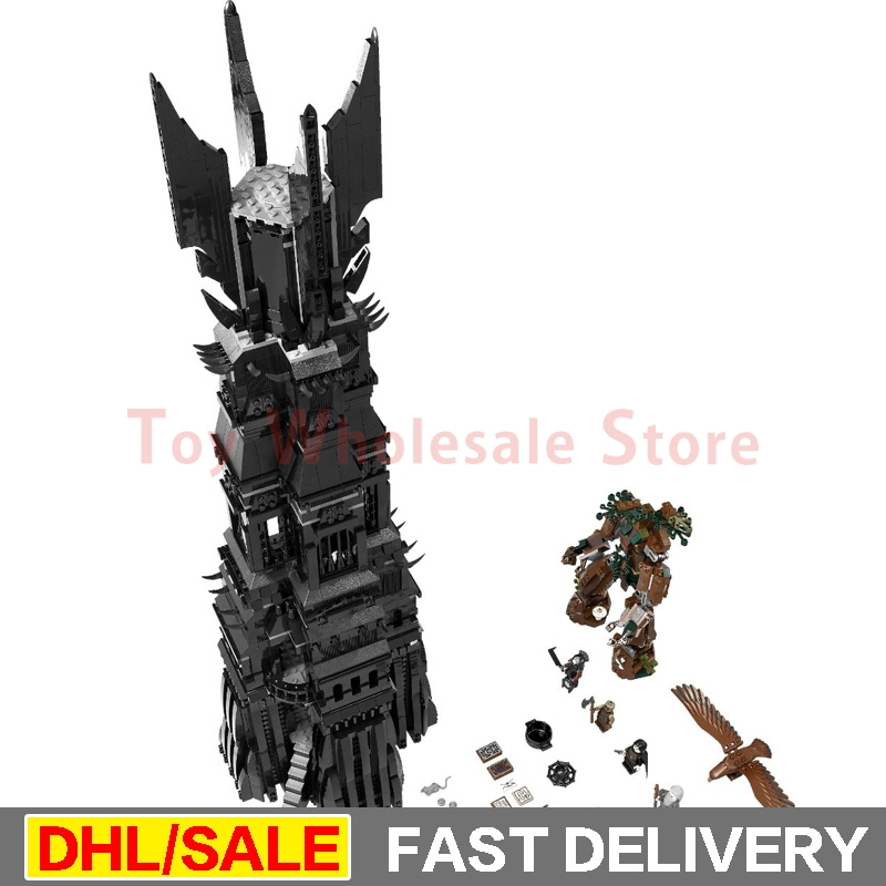 LEPIN 16010 2430Pcs Lord of the Rings The Tower of Orthanc Model Building Kits Set Blocks Bricks le[ins Toys Gift Clone 10237